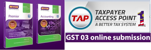 GST 03 online submission file in MYOB
